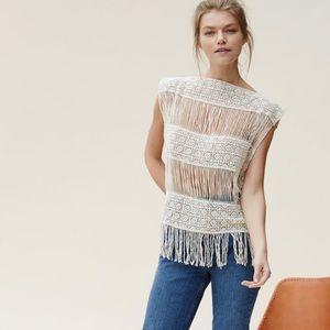 Callahan crochet fringe top